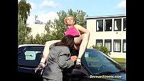 german teen picked up for massive facial in public