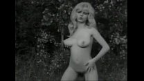 Vintage B&W Swedish blond with big boobs and hairy pussy dancing
