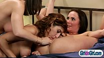Milf busted 2 babes pleasuring in bed