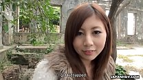 Cute Asian teen gets prepared for her first por...