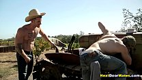 Redneck gay jock fucks a straight farmer's virgin ass
