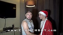 jess ROYAN fucked barbakc by Santa CLAUS for christmas a sexy latino twink