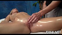 Gorgeous honey gets much more than just a massage! porn image