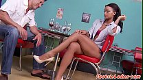 Feetworshiped beauty banged doggystyle pornhub video