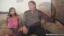 Naughty girl have oral fun with her BF's parents thumbnail