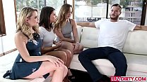 Adriana Chechik 4some with Remy LaCroix and Mia Malkova thumbnail