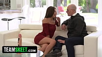 Slutty Brunette Can't Wait To Ride Jeff's Rocket And Send Him Into Space With Her Tight Juicy Pussy