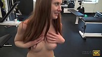 HUNT4K. Magnificent young girl Linda Sweet loves just sports, money, and sex