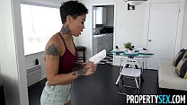 PropertySex - Hot tenant cheats on her DJ boyfriend with landlord