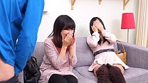 Subtitled CFNM Japanese friend wches surprise blowjob - 9Club.Top