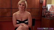 Blonde spunked in pov