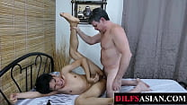 Bound Asian Amateur Tickled And Breeded By DILF