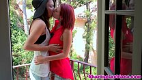 Lesbian redhead has her pussy eaten Preview