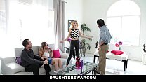 DaugherSwap - Hot Teens Fuck Dads During Mardis... Thumbnail