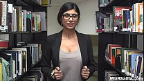 In the Library with Mia Khalifa tumblr xxx video