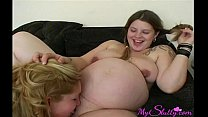 Pregnant Lesbians Eat Each Other's Pussy