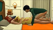 Son Fucks Sleeping Blonde Mom After They Had Di...