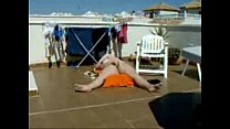 My gorgeous mom sunbathing and masturbating. Hidden cam