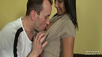 Pretty french tanned girl hard fucked and jizze...