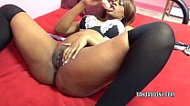 Black hottie Solah LaFlare stuffs her twat with...'s Thumb