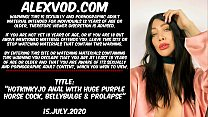 Download video bokep Hotkinkyjo fuck her ass with huge purple horse ... 3gp terbaru