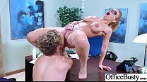 Hardcore Sex Tape In Office With Big Melon Tits Girl (Britney Amber) video-06