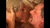 Blonde horny MILF rides a huge cock and gets hard anal fuck preview image