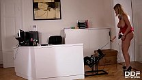 Sex toy fun at the office gives babe Katerina Hartlova chills of pleasure thumbnail