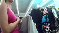 Adorable czech girl is tempted in the mall and drilled in pov