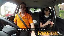 Fake Driving School Sexy Spanish Learner sucks Big Cock for lessons Image