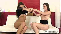 Pissing contest for sexy lesbians