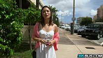 Beautiful babe Daisy Summers joins us on the 305bus.1 video