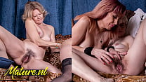 MatureNL - Three Girlfriends Eating Out Each Others Hairy Pussies