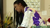 Ebony masseuse jizzing pornhub video
