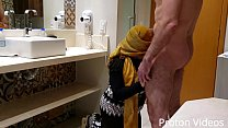 Forbidden Fuck: Muslim arab Hijab Niqab BBW Chubby Neighbor lost her virginity - part 1