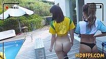 College amateurs group fuck and suck and rub pussy at party