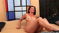 Horny milf Dorothy gets a facial from the guy next door - 9Club.Top
