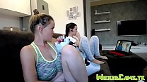 Big Natural Tits Camgirl h. Out Sports Bra