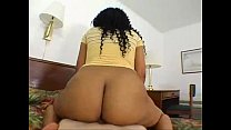 Cute ebony creampied