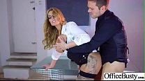 Big Melon Tits Girl (Stacey Saran) Love hardcore Sex In Office video-28