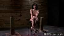Busty Asian babe throat and pussy fucked in bdsm preview image
