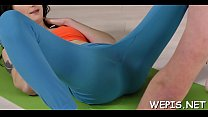 Foxy young maiden Yvette gets nailed