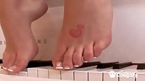 Brooke Banner Has Her Sexy Feet Fucked And Covered With Steamy Jizz