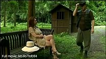 hot milf was fucked by two man in the forest