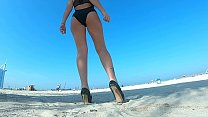HONEY MAIAREMTHINKS EROTIC THOUGHTS AS SHE WALKS ON THE BEACH