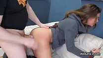 Flirty chick was taken in anal nuthouse for awk...