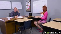 Redhead student Skyla Novea get a hot hardcore sex video