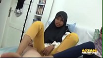 Two asian muslim babes jerking and begging for cum thumbnail
