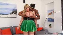 Lovely Busty BBW In Latex Has a Fetish Fuck Party thumbnail