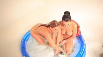 Czech lesbians in the pool preview image